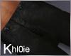 K black leather skinny M