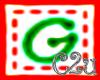 C2u letter G Sticker