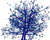 Blue Falling Leaf Tree