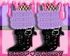 Purple Fur Boots