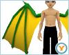 Fld Dragon Wings: GrnYlw