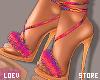 e Colorful Fur! Heels