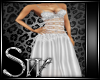 wedding dress silver