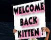 NW WB KITTEN SIGN