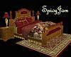 Burgandy Animated Bed