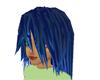 Blue Highlighted Hair