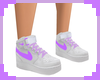 [S] White Purple Shoes