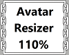 110% Avatar Resizer