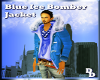Blue Ice Bomber Jacket