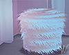 Cotton Candy Fur Stool