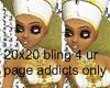20x20 Queen Bling
