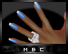 Blue French Manicure S