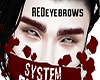 red eyebrows