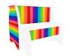 Rainbow Step Stool