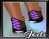 Purple Black Heels
