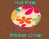 Hot Pink Wicker Chair