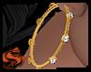 |S| Diamond Gold Hoops