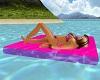 PVC-Pink Pool Matress