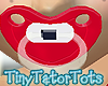Kids Red Wht Blue Paci