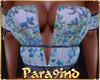 P9)Blue Floral Top