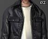 rz. Leather Hoodie