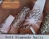 A/L DIAMOND GOLD NAILS