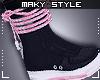 Ms~Sneaks pink blk
