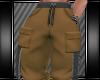 [L] DK TAN CARGO PANTS