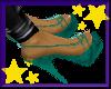 [2709]Teal GiessO Heels