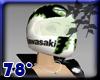 Racer Helmet w green
