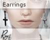 Cross Earrings B+S