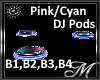 Pink/Cyan DJ Stands