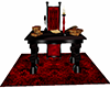 Royal Skull Red Desk