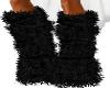 AN Black fur warmers