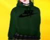 ✔ green nike hoodie