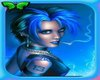 Mermaid blue tail anim-