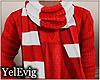 [Y] sweater + scarf M