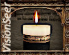 Black/Gold Candle