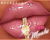 M! Gold Lip Piercing