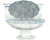 Blue Marble Toliet