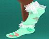 A Peachy Christmas Socks