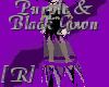 Purp&Black Bat Gown