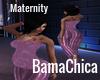 SatinPurple MaternityTop