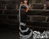 Houndstooth Sari Black