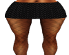 Black Scale Mini Skirt