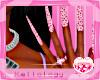 𝒦. Pink Heart Nails
