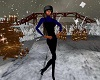 (F Blue/Black Ski Suit