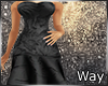*W*Rose Gown-Black