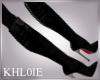K black boot leather  RL