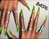 !.Crush Green Nails.